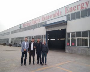 Welcome the Albania clients visited Huayin Factory