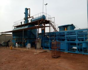 Waste oil distillation plant in Benin
