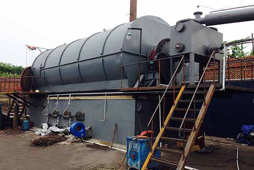 pyrolysis oil sludge machine