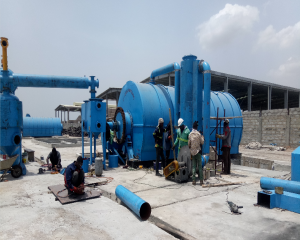 Four sets waste tyre pyrolysis plants in Ghana