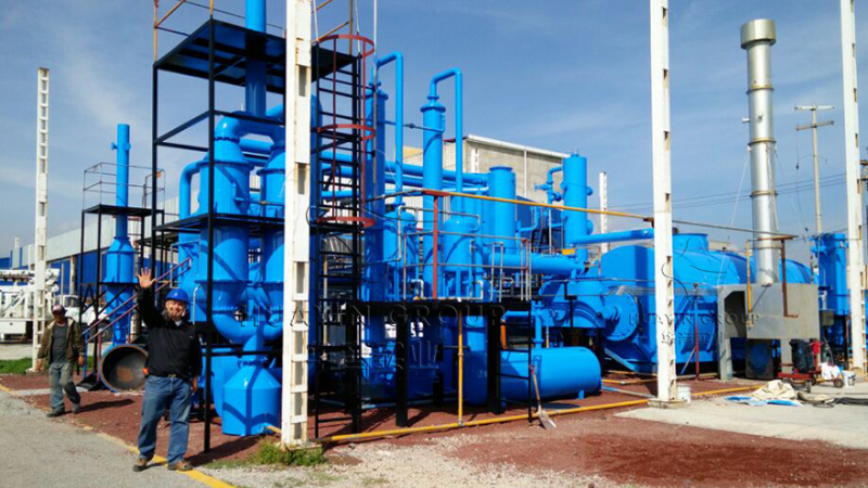 Huayin waste tyre and plastic pyrolysis plant