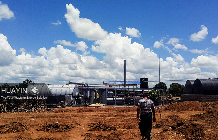 Pyrolysis plant is running well in SriLanka