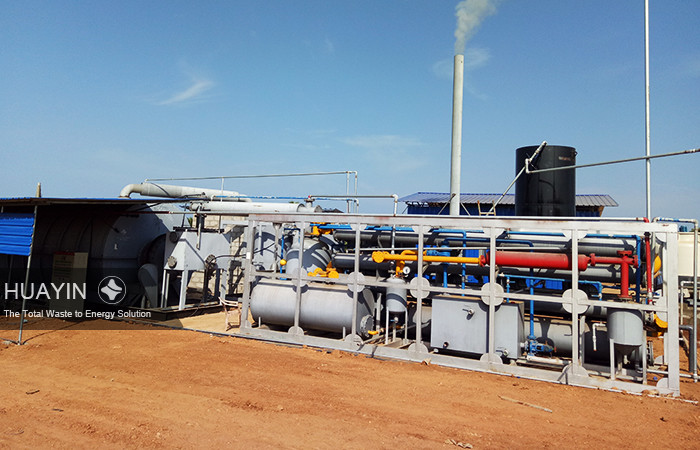 Pyrolysis plant is running well