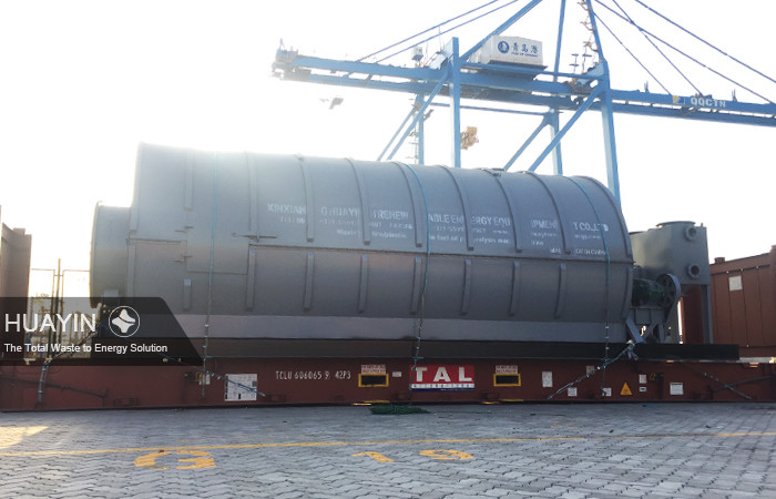 Huayin pyrolysis plant loaded at Qingdao port