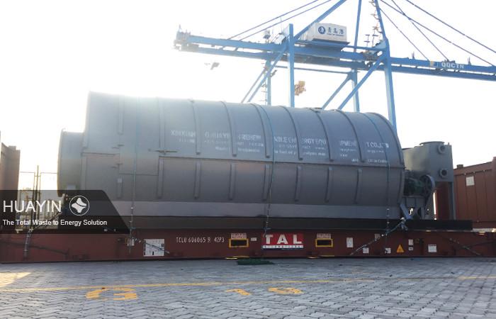 Huayin pyrolysis plant loaded at Qingdao port