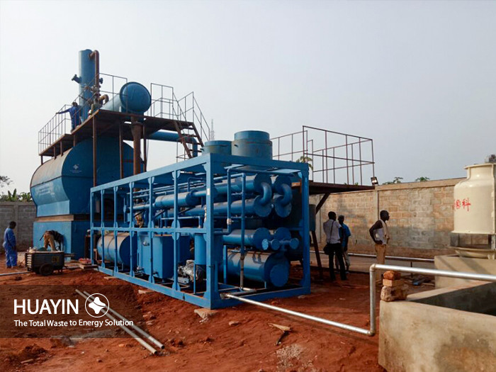 waste oil refining plant under installation