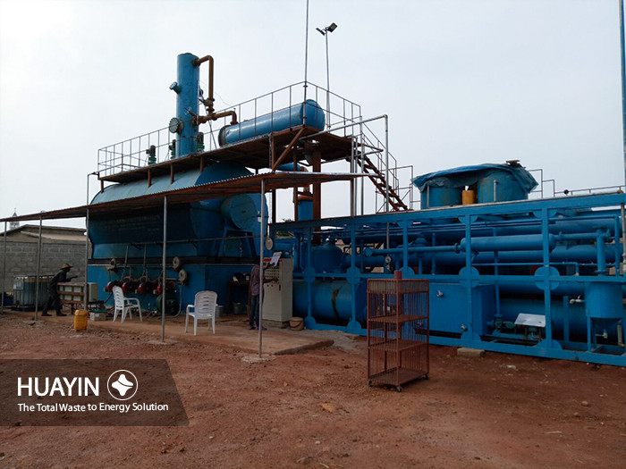 Huayin waste oil refining plant