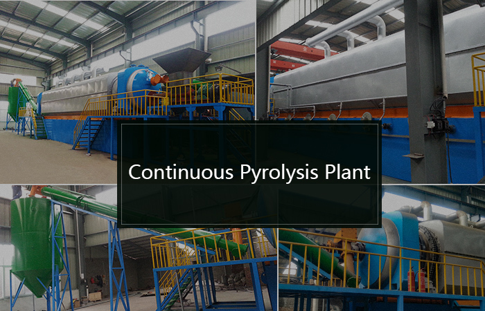 continuous pyrolysis to oil plant